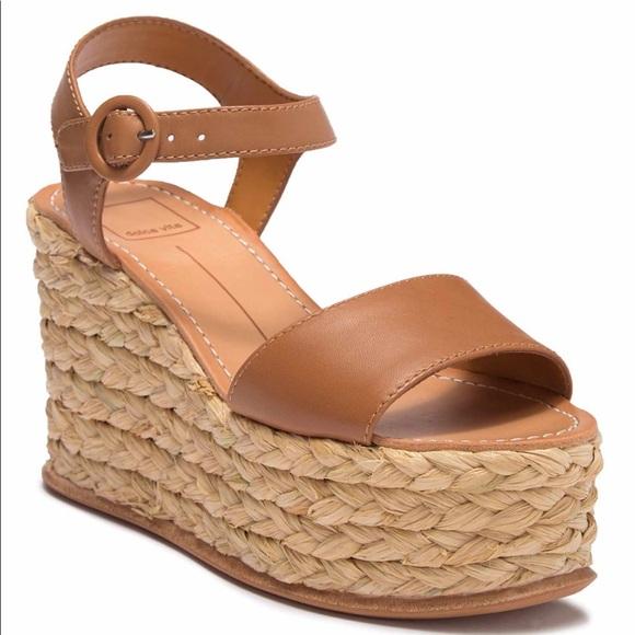 cba413ab41 Dolce Vita Shoes | Dane Espadrille Wedge Sandals Leather | Poshmark